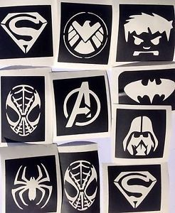 30 x superhero stencils -top up your glitter tattoo kit very best quality on eba