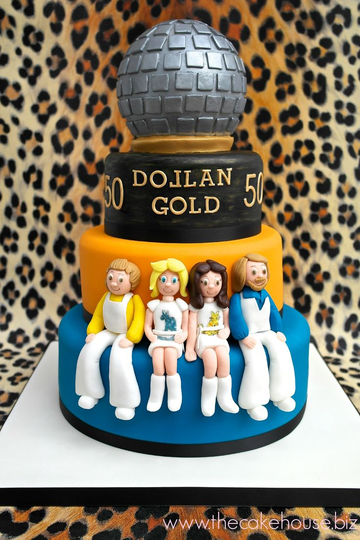 Abba Birthday Cake Celebration Cakes Pinterest