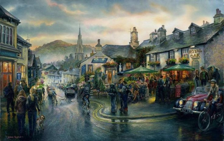 Long Days on the Fells, Ambleside Print by Graham Twyford