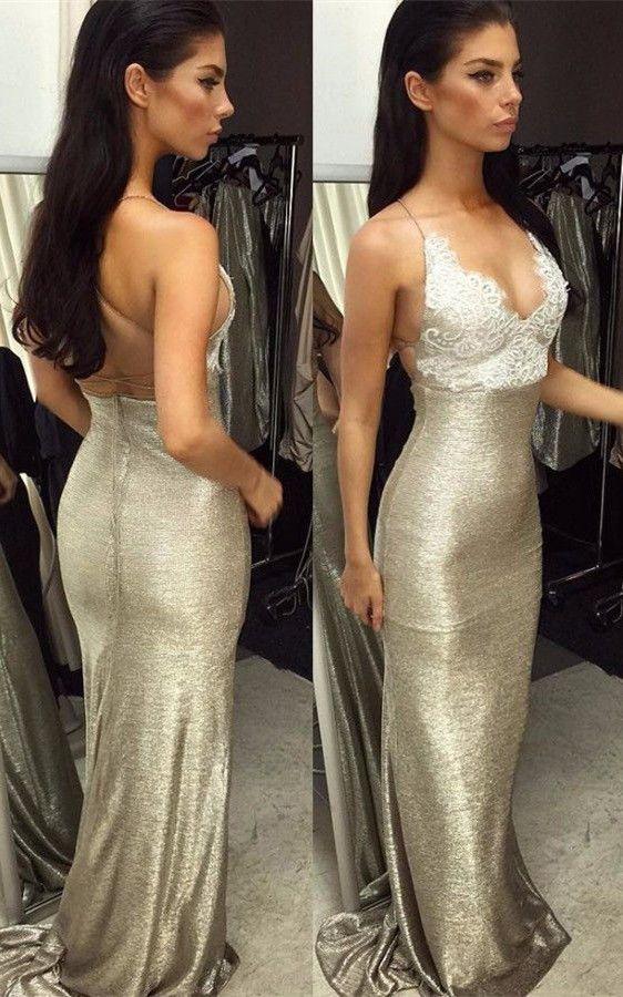 c4a9911ef08 Glamorous V-Neck Evening Dress
