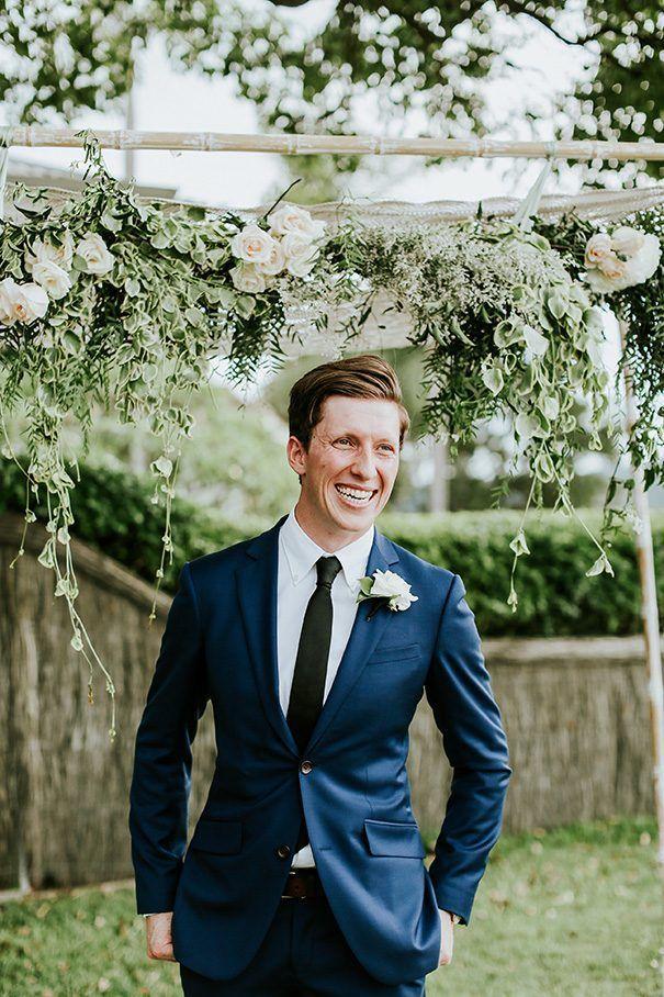 FRANCESCA + ANGUS // #groom #suit #navy #tie #modern #classic #stylish #wedding #palmbeach #photographer #ceremony #reception