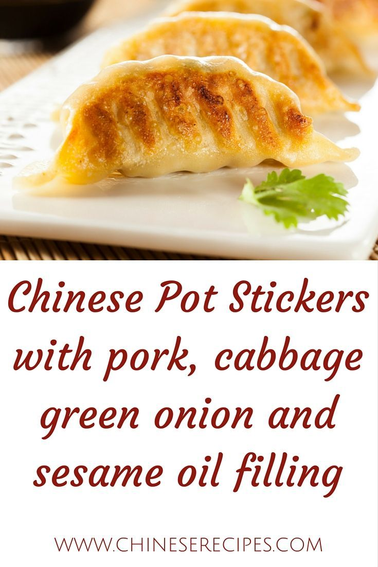 Filled with yummy surprises and wrapped in traditional won-ton wrappers, Pot Stickers are delicious treats that are even better when dipped in your favorite Chinese sauce! This recipe serves 4 to 6.