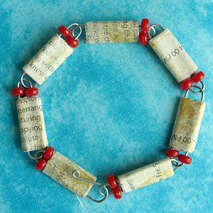 paper bead & paper clip bracelet