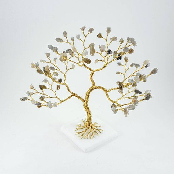 Handmade Gemstone Tree Materialized From 50ft 15m Of Ceaft Wire
