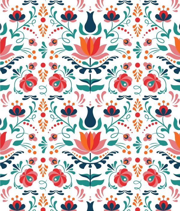 how to design a colorful hungarian folk art pattern in adobe