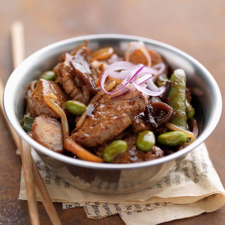 Découvrez la recette Sauté de porc épicé sur cuisineactuelle.fr.