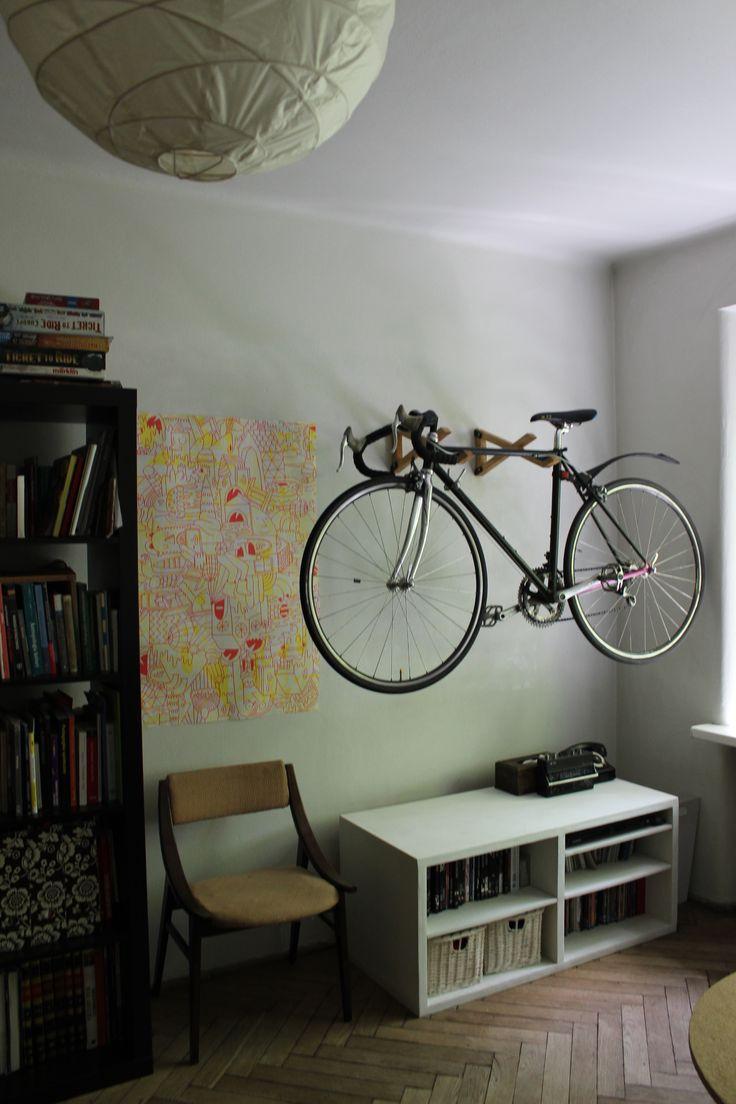 drewniany wieszak na rower wood bike hanger www.wieszam.pl https://www.facebook.com/wieszam