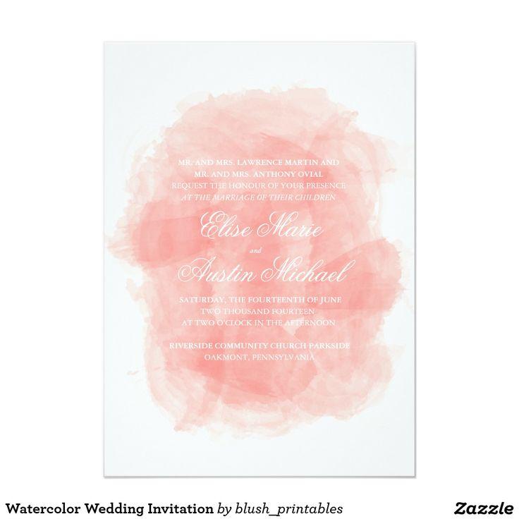 Watercolor Wedding Invitation 52 best Watercolor Wedding