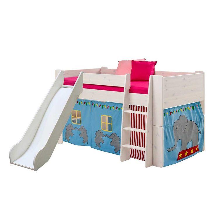Halbhohes Kinderbett mit Rutsche Zirkus Design (2-teilig) Jetzt bestellen unter: https://moebel.ladendirekt.de/kinderzimmer/betten/kinderbetten/?uid=ad070aad-00f5-56f3-ae75-1569c8960ab0&utm_source=pinterest&utm_medium=pin&utm_campaign=boards #kinderzimmer #kinderhochbett #jugendhochbett #kinderbett #kind #kinderbetten #kinderbettchen #hochbett #betten #hochbettgestell