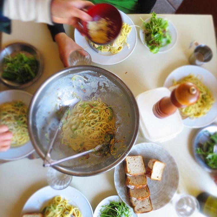 "26 Likes, 1 Comments - Bio-farm Matsuki (@k_matsuki) on Instagram: ""基本の賄い  サラダ+炭水化物.  サッとできてお腹に溜まる、原価安い。  出荷の余りの菜の花をクリームパスタ  #biofarm  #vegies #organicgardening…"""