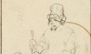 """""""Mendicante cieco con un ragazzo e un cane"""", un disegno di Rembrandt, ed altri disegni attribuibili alla sua cerchia sono stati trovati in una soffitta scozzese. Il gruppo di disegni del fortunato ritrovamento andrà all'asta da Christie's il prossimo 3 luglio. Il solo disegno di Rembrandt è"""