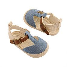 Carters Ivory/Blue Chambray VELCROreg; brand closure Espadrilles