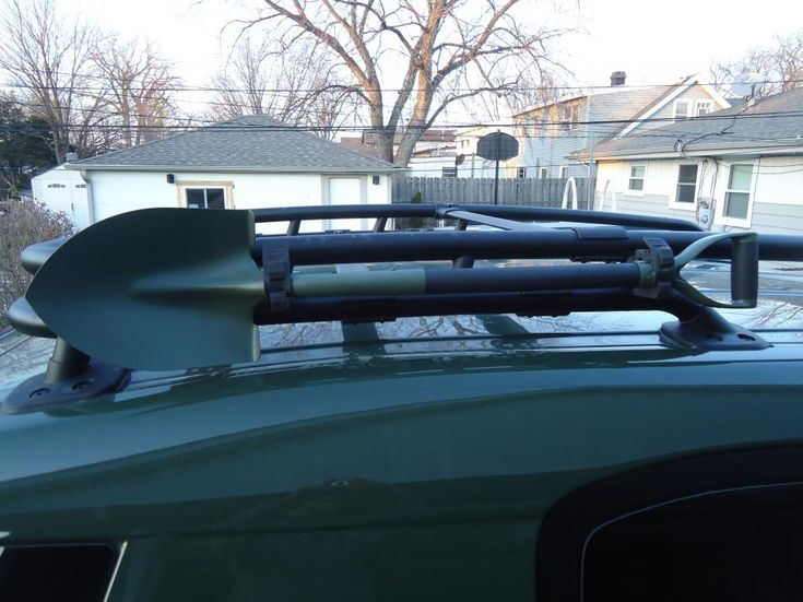 Mounting a Shovel to a Roof Rack