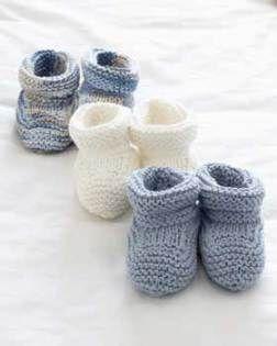 Sitographie chaussons à tricoter pour bébé