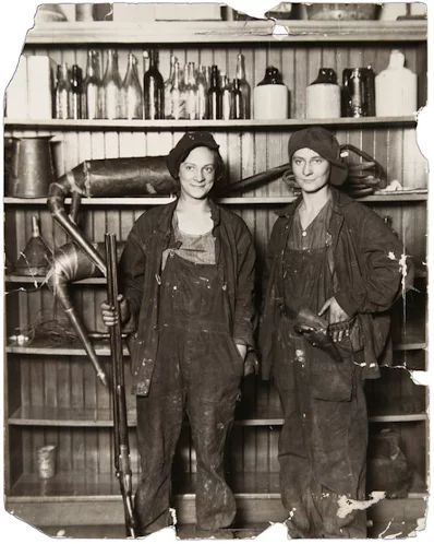 Two female moonshiners