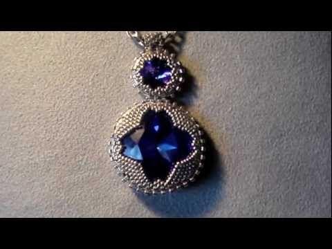 Beaded pendant. Free video tutorial.