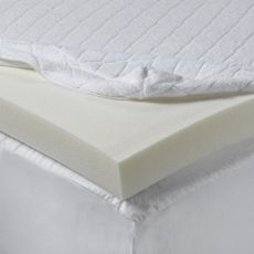 Visco Elastic Mattress Topper (American Store) Sleep deeply and wake up refreshed with this memory foam mattress topper.