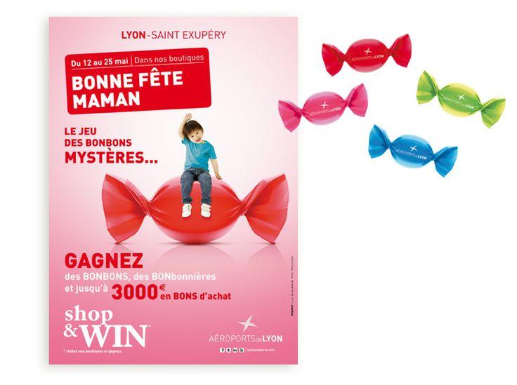 Empreinte Conseil : pour la fête des mères 2014, le jeu des bonbons mystères à l'aéroport Lyon St Exupery