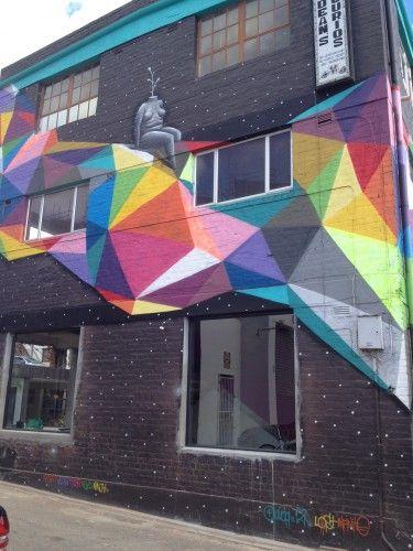 geometric mural -Woodstock, Cape Town
