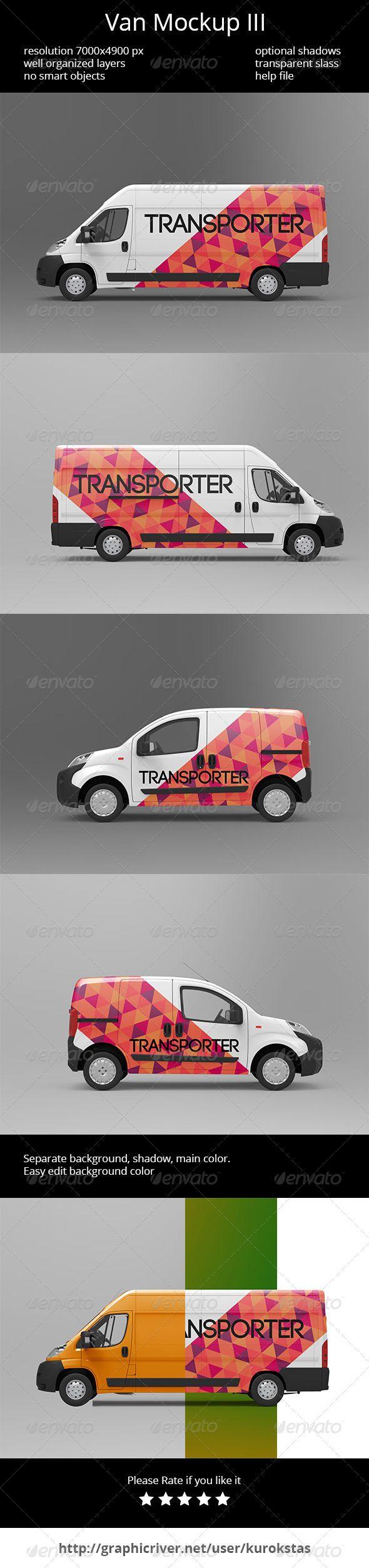 Van Mockup III — Photoshop PSD #mock up #design • Available here → https://graphicriver.net/item/van-mockup-iii/6901140?ref=pxcr