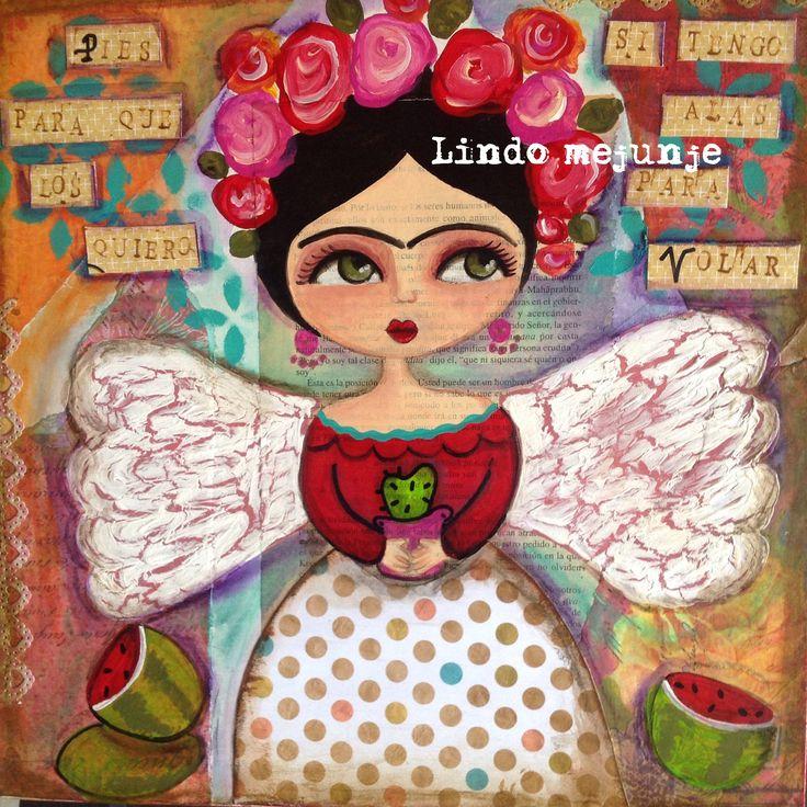 Cuadro Frida by Lindo Mejunje de Calu Gallard