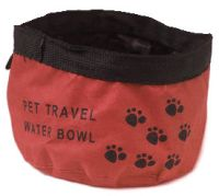 Red Canvas Pet Bowl - includes sameday send, FREE 1st Class Delivery plus 28 day peace of mind Returns Policy on all discount #Pet Supplies ( #Cat #Dog #Fish Items) at http://cutpricepetproducts.co.uk
