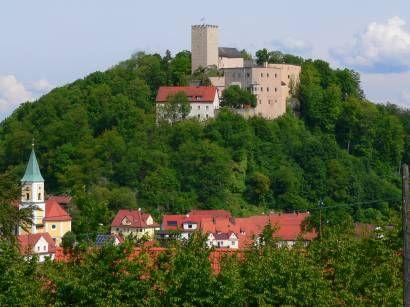 Burg Falkenstein Intakte Mittelalter Ritterburg Bayerischer Wald
