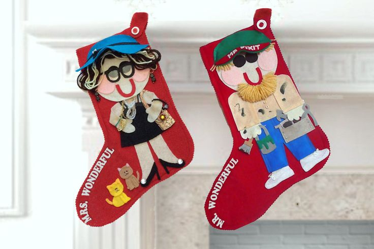 Custom Christmas Stockings, Personalized Christmas Stockings, Felt Christmas Stocking, Family Stockings, One of a Kind - pinned by pin4etsy.com