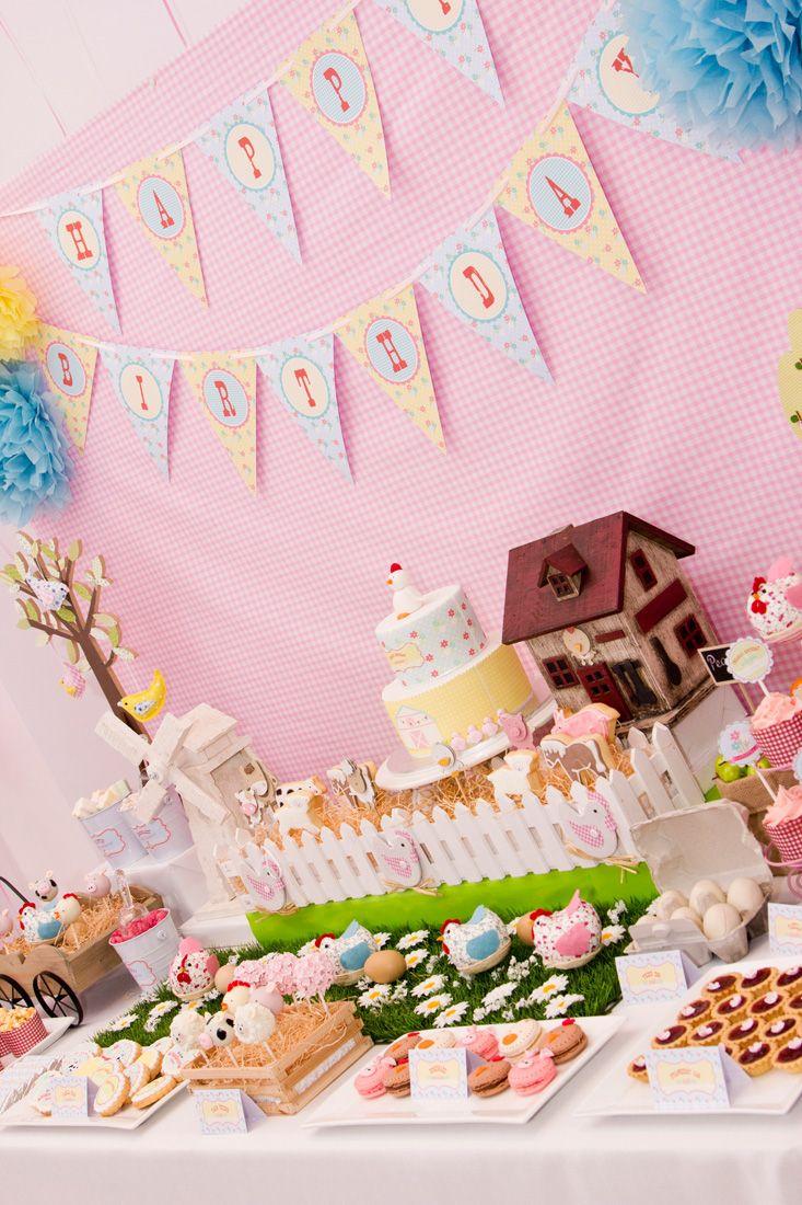 Pastel Barnyard Party