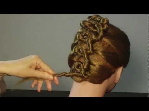 Модная прическа : ФРАНЦУЗСКИЕ СПИРАЛЬКИ.  Rope combined with french braiding technique.