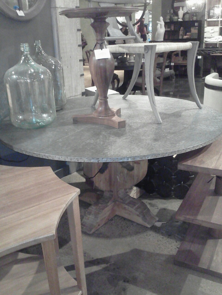 bespoke metal wood tables benches handmade zinc table tops t