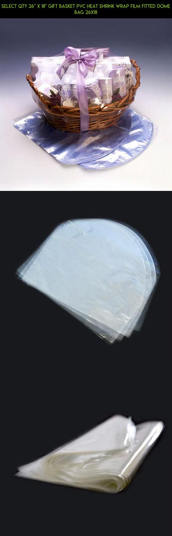 """SELECT QTY 26"""" x 18"""" Gift Basket PVC Heat Shrink Wrap Film Fitted Dome Bag 26x18 #camera #technology #shopping #products #fpv #plans #tech #drone #heating #gadgets #kit #racing #parts #bag"""