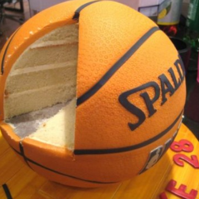 Spalding basketball groom's cake. I love this!