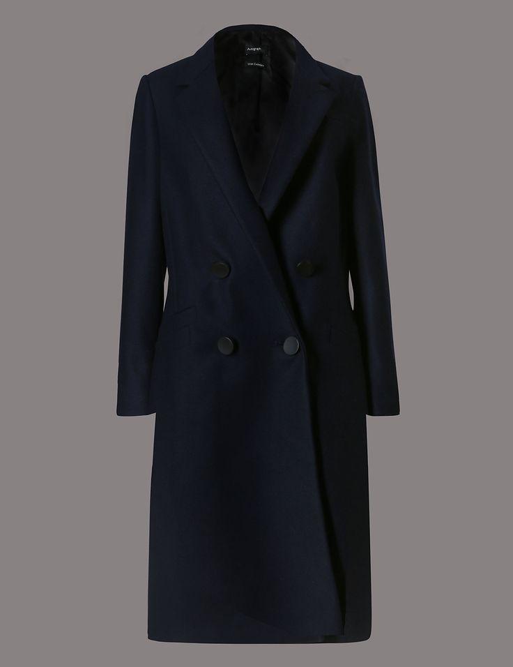 AUTOGRAPH Wool Cashmere Coat http://www.sizestyler.co.uk/product/buy/autograph-wool-cashmere-coat-16021541