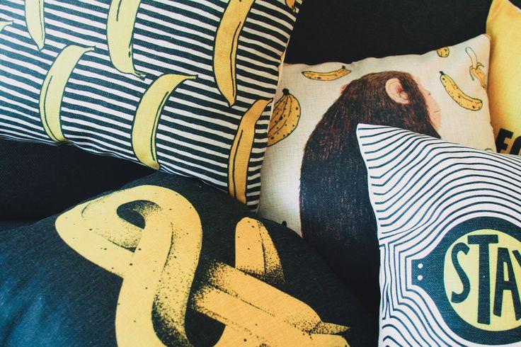 Cute Banana Throw Pillow, Pop Design Pillowcase, Yellow Pillow, Pillow Cover, Decorative Pillow Cover, Pillow Cushion Cover, Throw Pillow, Pillow Cushion, Gift, Pillow Covers.