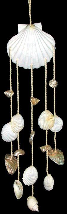 sino de vento com conchas