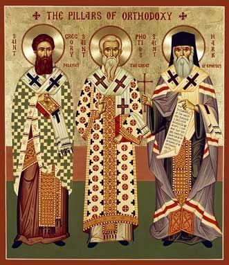 Three Pillars of Orthodoxy Orthodox Icon » Mounted Orthodox Icons of T Saints » ArchangelsBooks.com