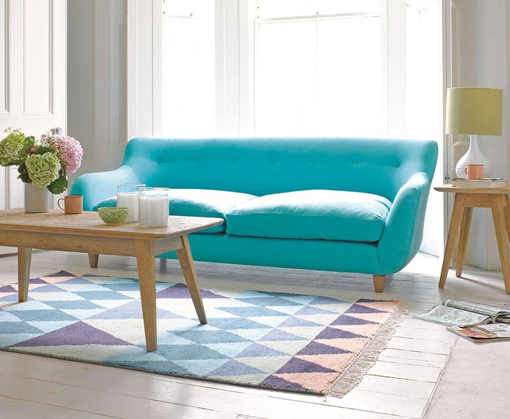Colorful couch , minimalism decor