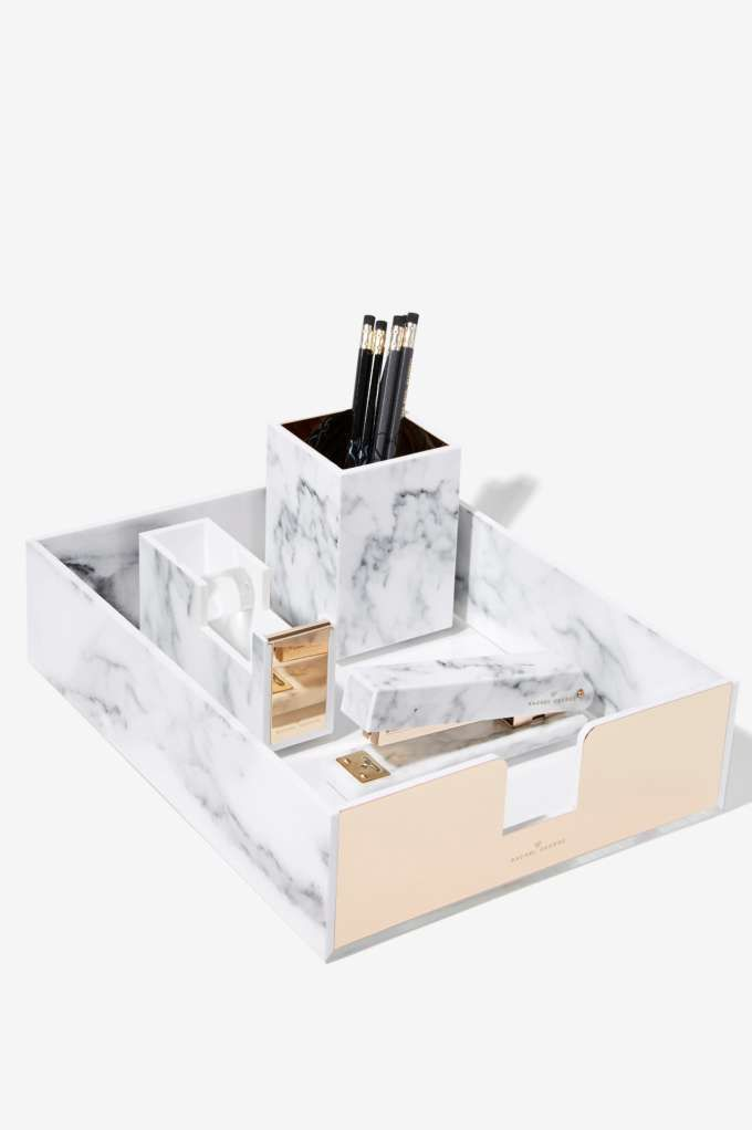 Deck out your desk in marble.