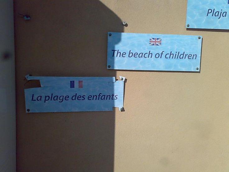 la spiaggia dei bambini