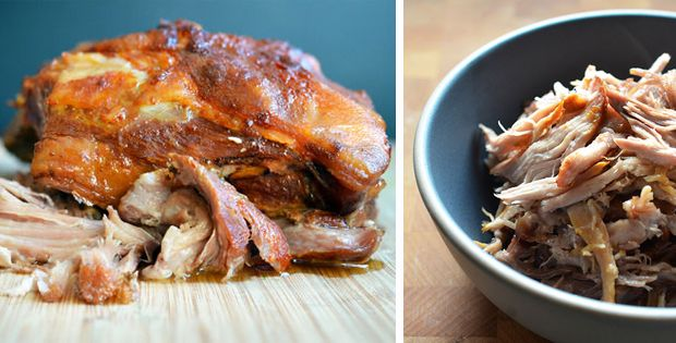 Ingredients: 5 pound Boston butt roast bone-in or out—it doesn't matter) 3 slices of bacon 1½ tablespoons of Alaea Red Hawaiian Coarse Sea Salt (or ~1 tablespoon of Alaea Red Hawaiian Fine Sea Salt) 5 peeled garlic cloves (optional) click on the link for the entire recipe :-)