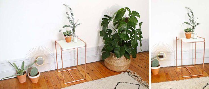 Tuto : Fabriquez une jolie table d'appoint en tuyaux de cuivre  Tuto réalisé par : Mademoiselle Claudine