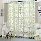 Vines Leaves Tulle Door Window Net Curtain Plain Floral Curtains Decor Slot Top … – Window Treatments & Hardware