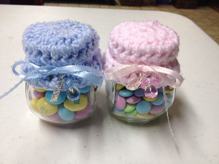 Here Are The Baby Shower Favors My Mom Put Together For My Shower. She  Crocheted
