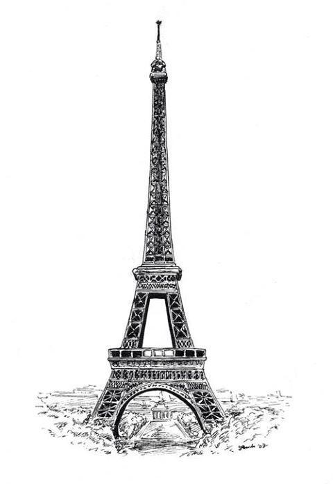 25  melhores ideias sobre torre eiffel desenho no