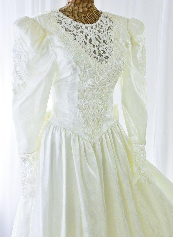 Gunne Sax Bridal Wedding Gown NWOT Sheer by Voilavintagelingerie