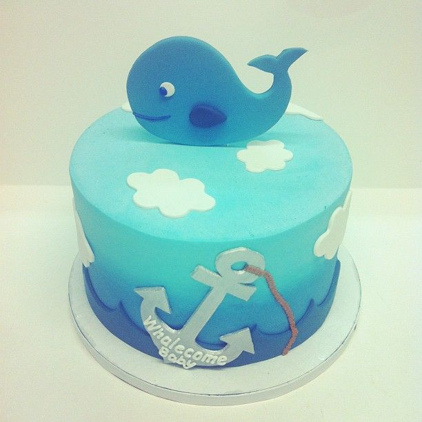 Whale baby cake, This gos with the sea theme baby boys room art eariler! CHECK IT OUT IT'S IN DIY!