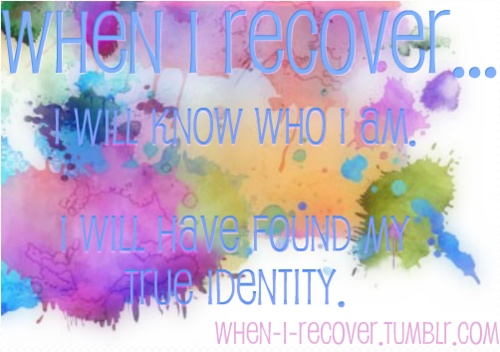 Addiction will not be my identity