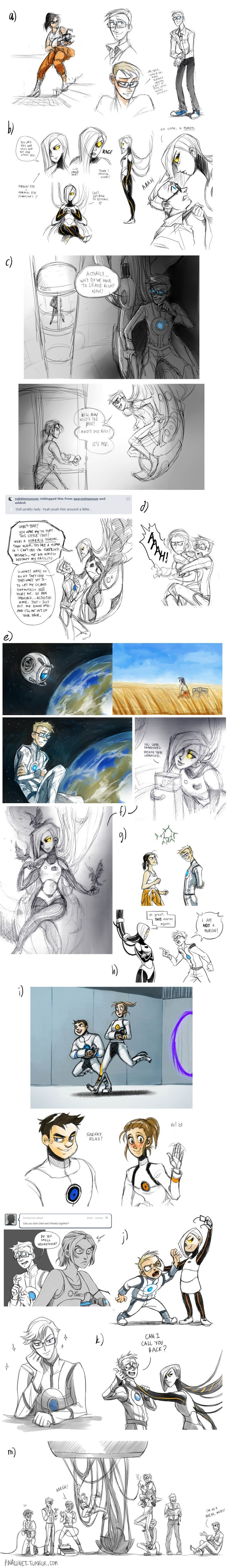 Portal 2 Sketchdump by pinali.deviantart.com on @deviantART