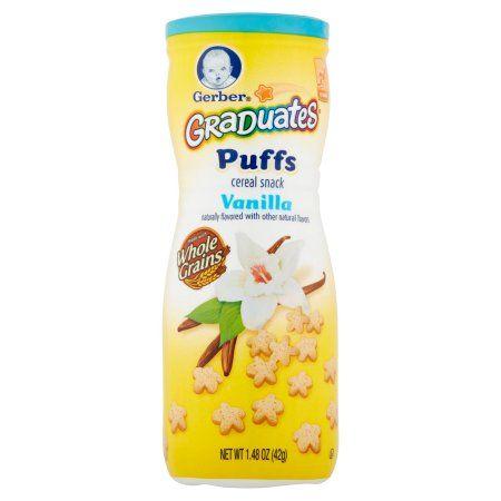 Gerber Graduates Crawler Puffs Cereal Snack Vanilla 1.48oz